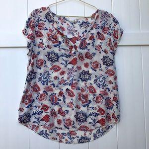 Kenar Short Sleeve popover blouse medium